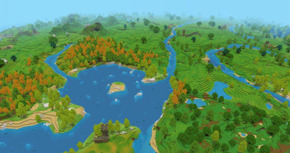 Biome forêts, lacs, rivières et collines