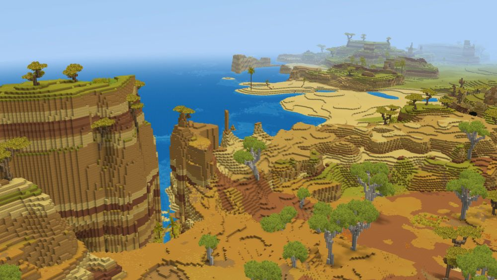 Zone de sable et de savane