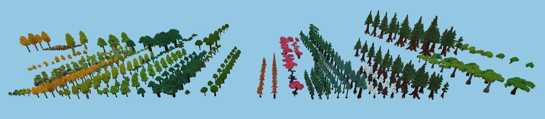 Végétation diverse d'Hytale