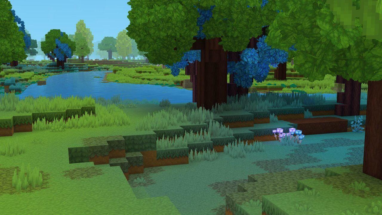 Quelques changements RGB pour créer une diversité de textures et de couleurs dans le même biome.