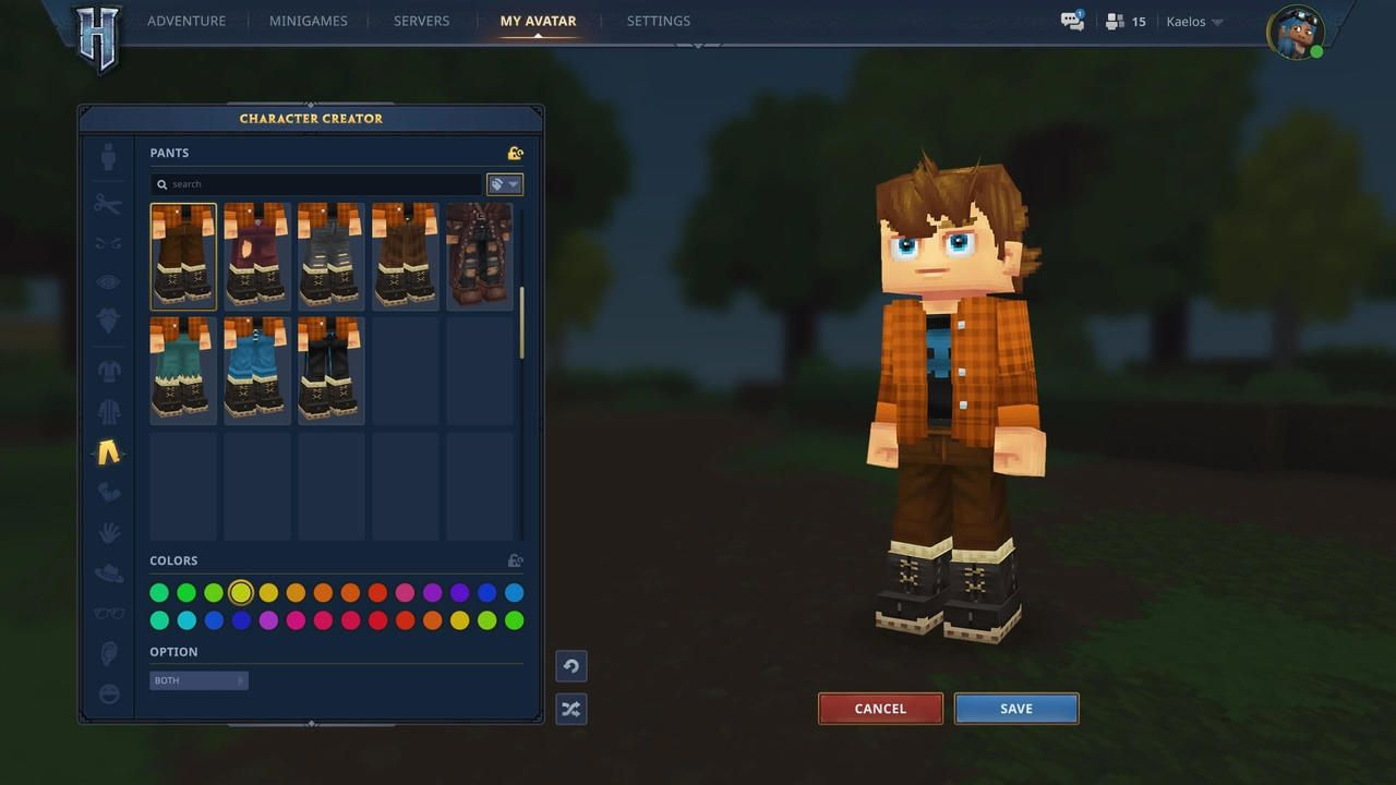 GUI Personnalisation avatar