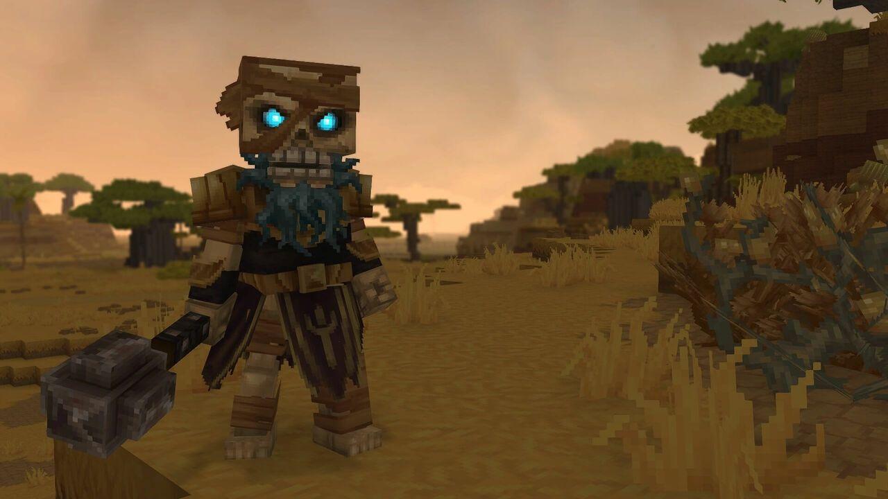 Un squelette guerrier de la zone 2