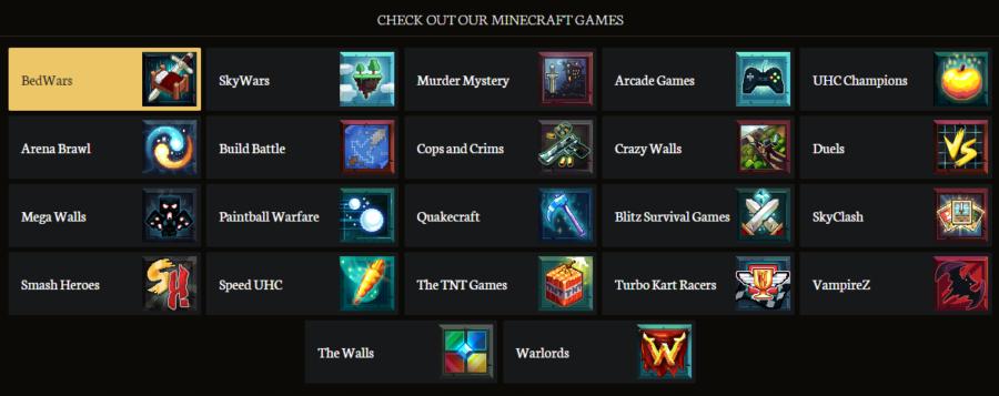 Liste des mini-jeux sur Minecraft
