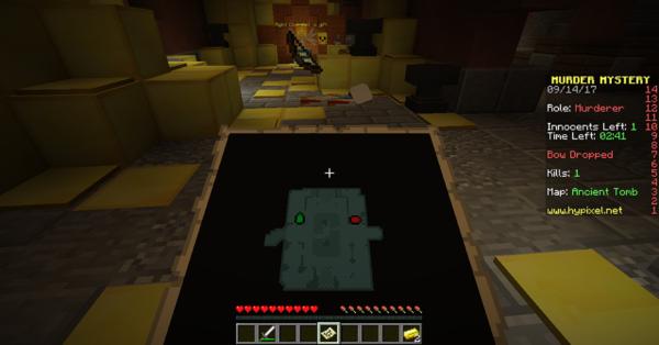 Murder Mystery sur Minecraft