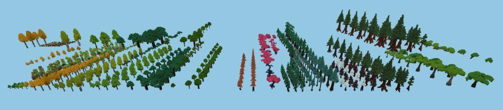 Différentes végétations d'Hytale