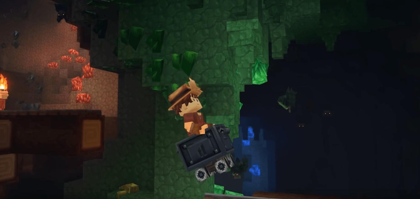 Wagon dans une mine