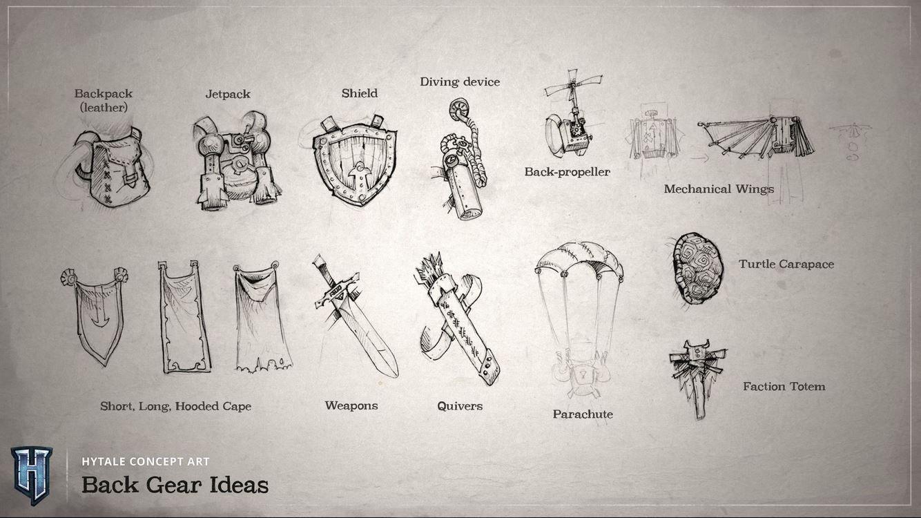 Schéma de plusieurs variétés d'armes