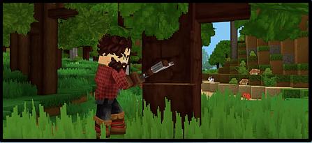 Couper du bois dans Hytale