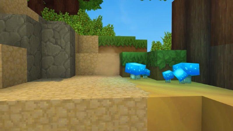 Lorsque vous frappez un bloc, vous observerez un effet de particules (poussières). Dans l'exemple, les blocs se cassent en un coup, mais ce ne sera pas le cas dans la version finale du jeu.