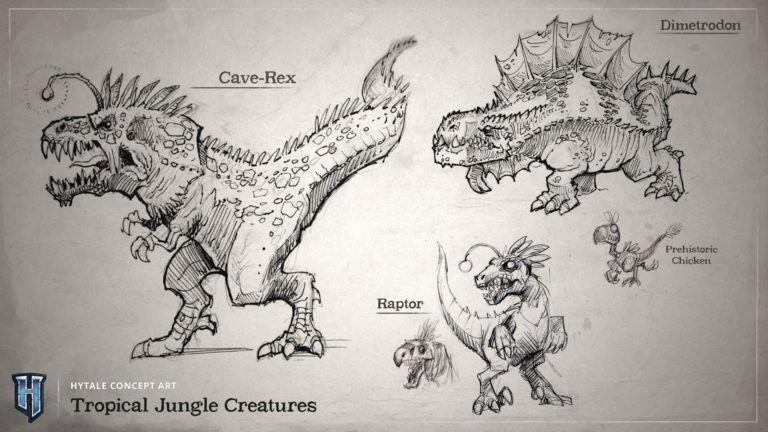 Dinosaures dans Hytale