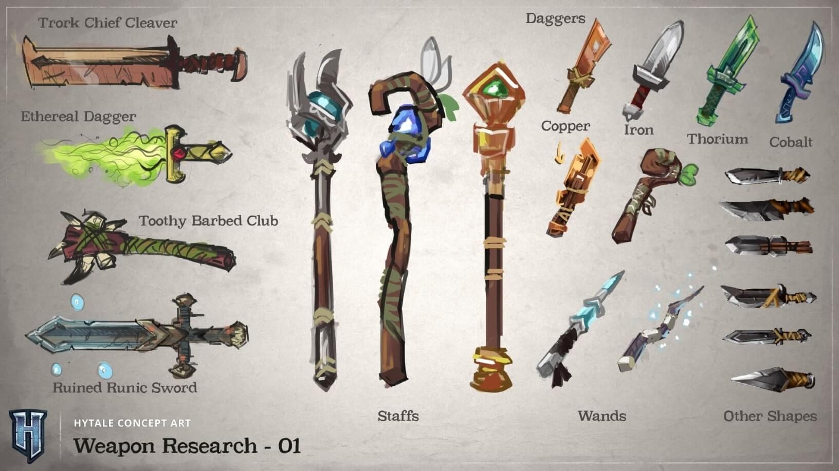 armes concept art