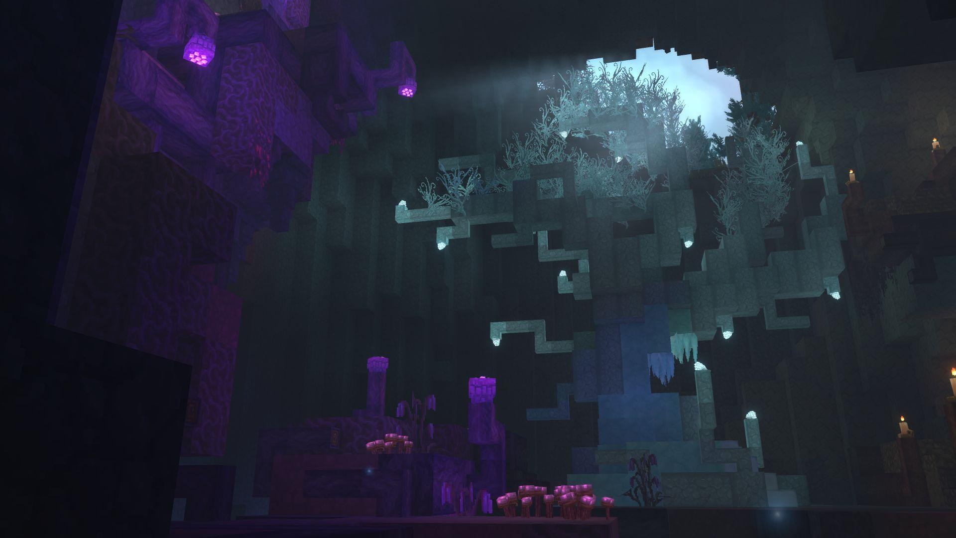 effet lumière grotte hytale