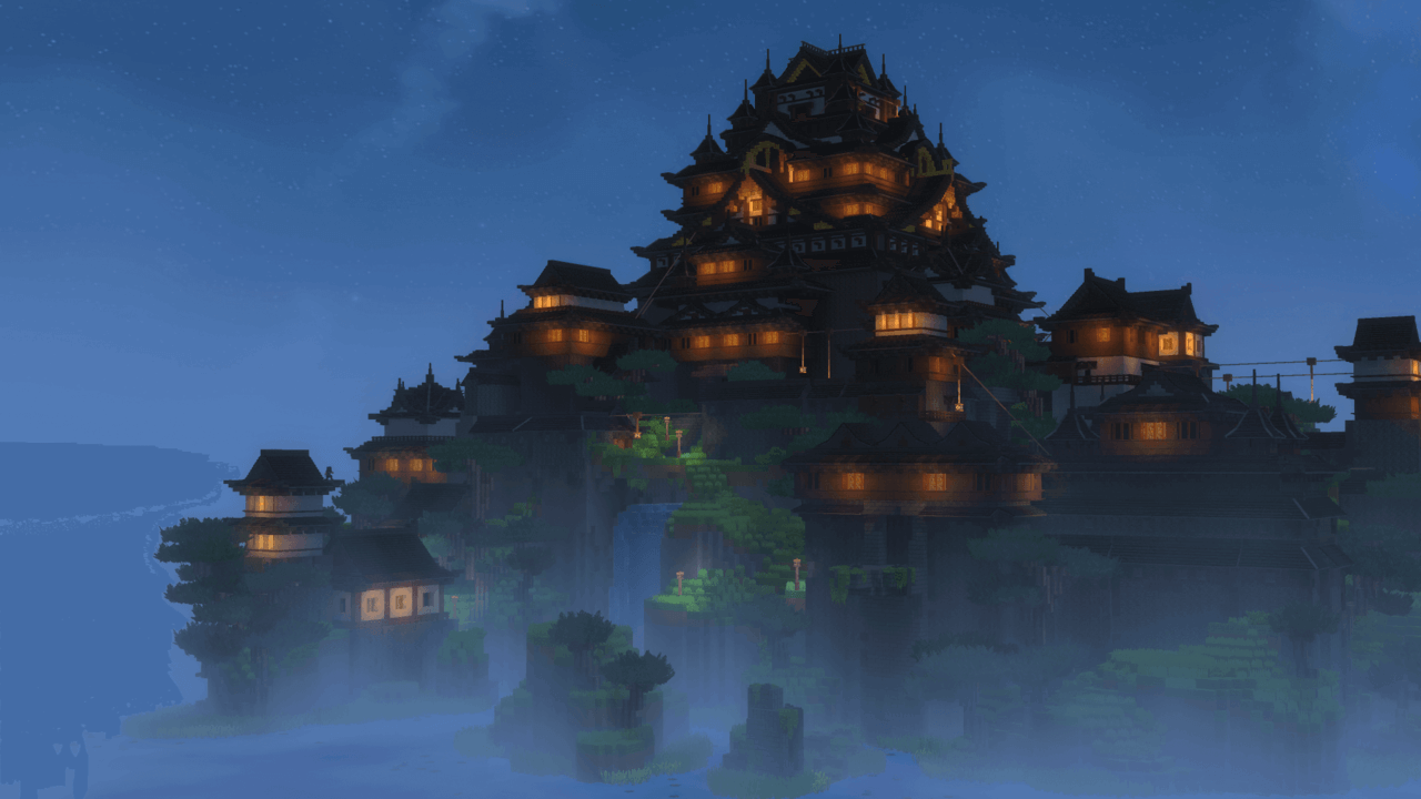 pagode build hytale wallpaper