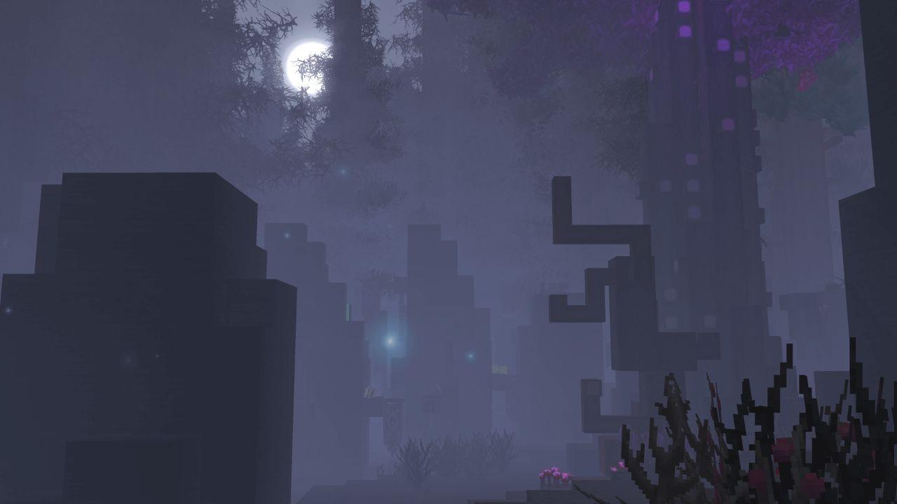 hypixel wallpaper forêt maléfique